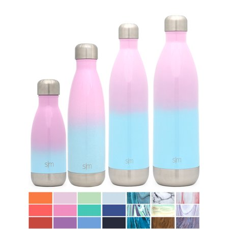 Simple Modern 17oz Wave Water Bottle - Vacuum Insulated Double Wall 18/8  Stainless Steel Hydro Swell Flask - Sweet Taffy