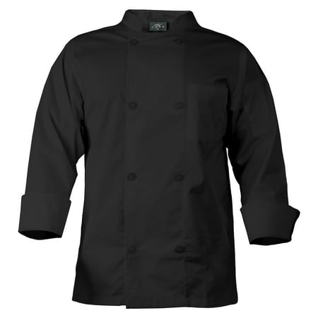 CHEF CODE Chef Coat with 8 Pearl Buttons, Double Breasted Front CC118 (Chefs Coat)
