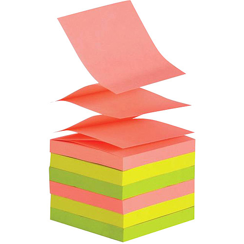 SchoolSmart Pop Up Self Stick Notes, 12-Pack