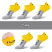 Dragonus 5 Pairs Basketball Socks Outdoor Athletic Crew Socks Thick Compression Sports Socks for Men & Women
