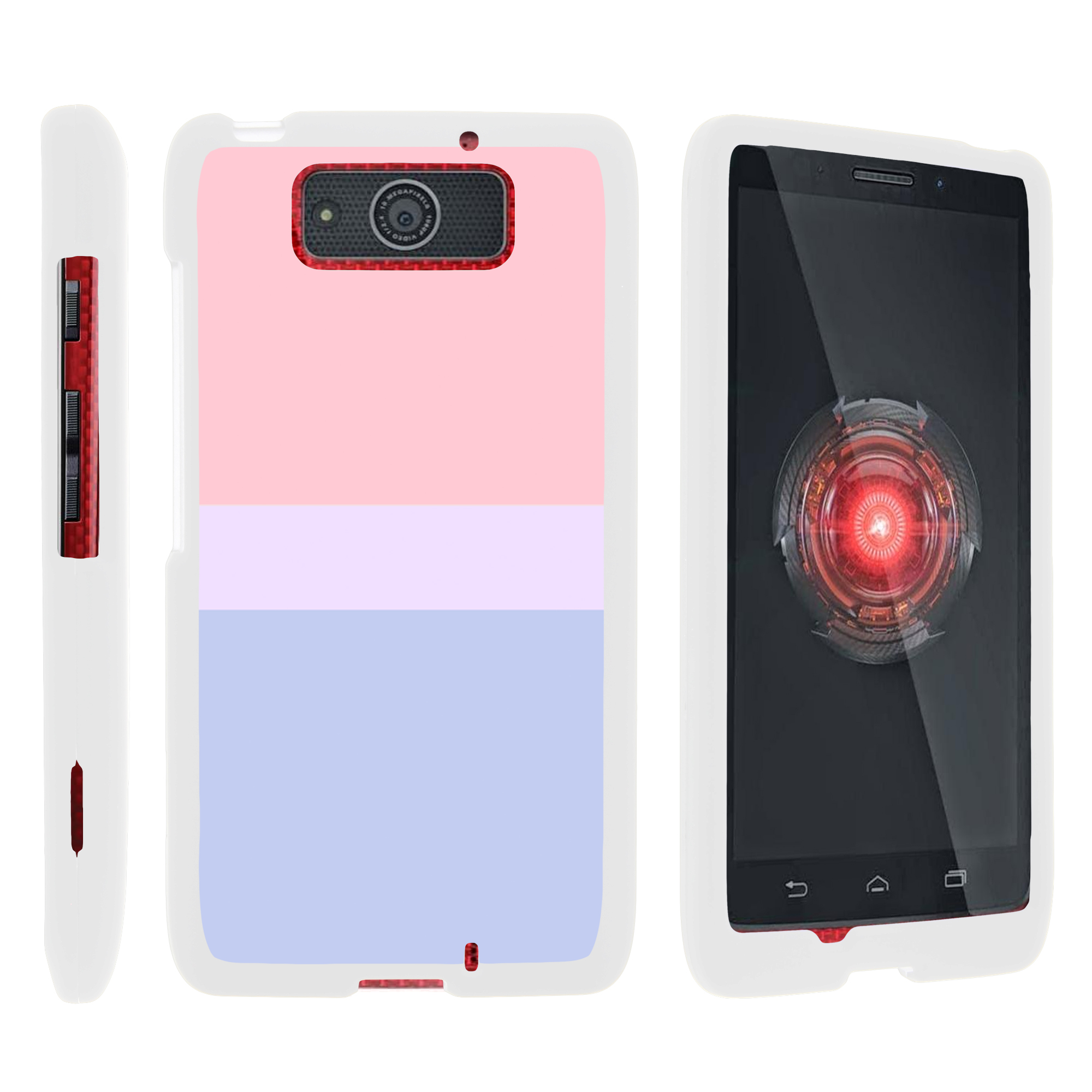 Motorola Droid Ultra XT1080 | Droid Maxx XT1080-M, [SNAP SHELL][White] 2 Piece Snap On Rubberized Hard White Plastic Cell Phone Case with Exclusive Art -  Sunset Pastel