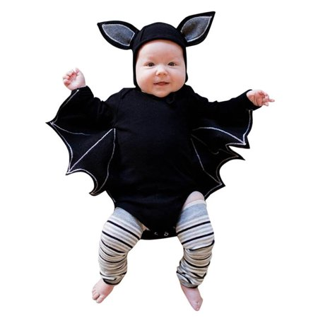 Mosunx Toddler Newborn Baby Boys Girls Halloween Cosplay Costume Romper Hat Outfits Set - Newborn Baby Costumes Halloween