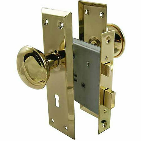 ultra 44609 2 1 4 brass old time mortise interior door