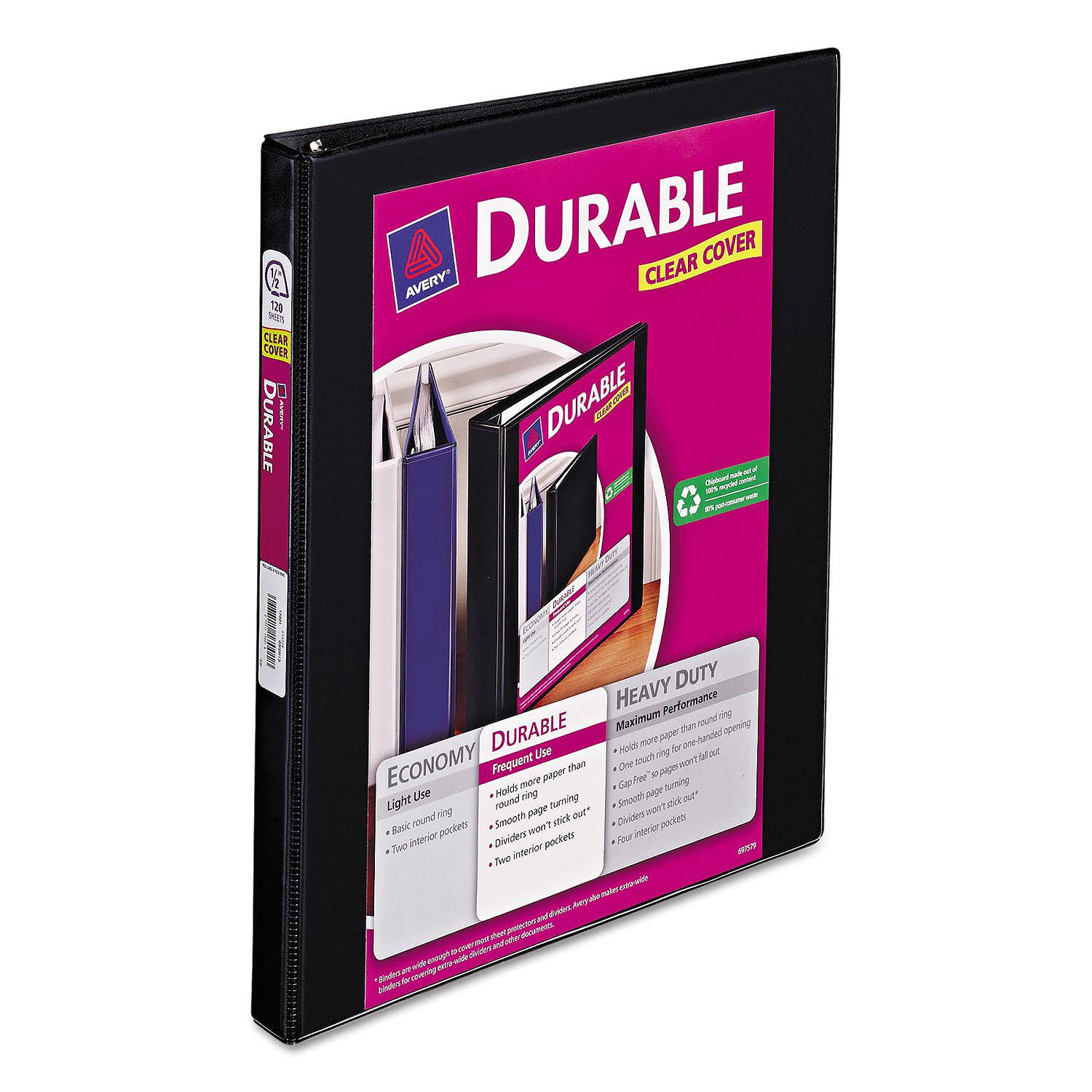"""Click here to buy Product of Avery Durable Slant Ring View Binder, 8 1 2"""" x 11\."""