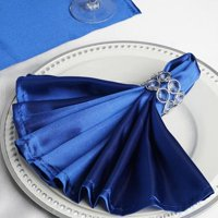 "Efavormart Wholesale 25 Premium Washable 20""x20""  SATIN Linen Napkins For Wedding Birthday Restaurant Party Tableware Decoration"