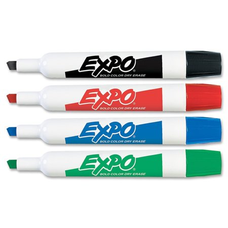 Dry Erase Markers Bulk (Buy Bulk: Expo Original Chisel Tip Dry Erase Markers, 4 Colored Markers, (Case of)