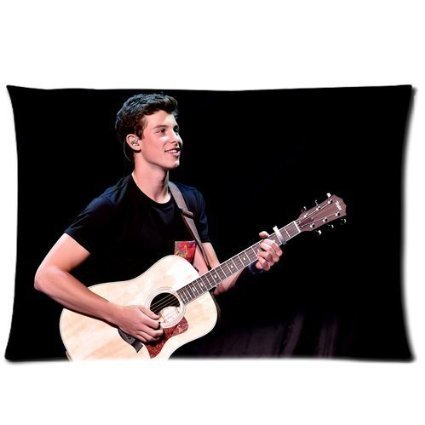 DEYOU Shawn Mendes Playing Guitar Pillowcase Pillow Case Cover Two Sides Printing Size 20x30 inch