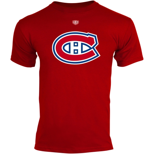 Old Time Hockey Montreal Canadiens Youth Big Logo Crest T-Shirt Red by Old Time Hockey