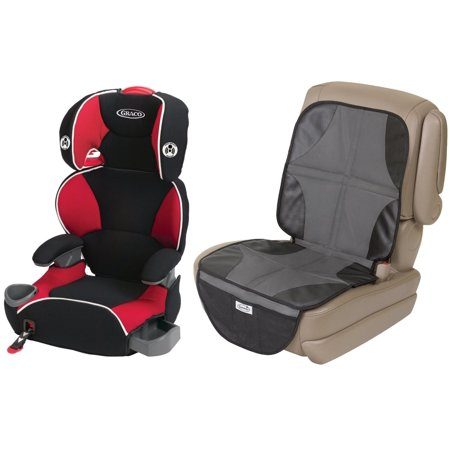 Graco AFFIX Youth Booster Seat With Latch System Car Mat Protector Atomic