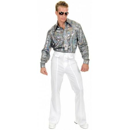 Halloween Holograms For Sale (Finger Print Hologram Disco Shirt Adult Costume -)