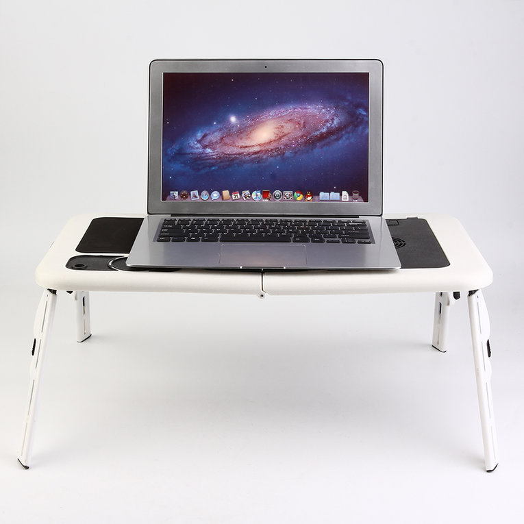 Notebook Table/Stand Ergonomic Portable Foldable Laptop Computer Table Tray Desk With Cooling Fan