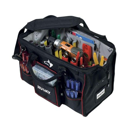 Husky Bag Toolbox 18 In Large Mouth Bags Storage Tool Wall 80897n09