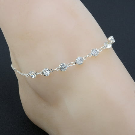 Outtop Silver Ankle Bracelet Women Anklet Adjustable Chain Foot Beach Jewelry