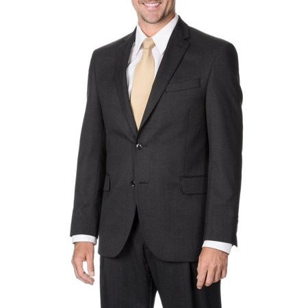Palm Beach  Men's Charcoal Striped 2-button Suit Separate Wool Blazer Stripe Suit Separates