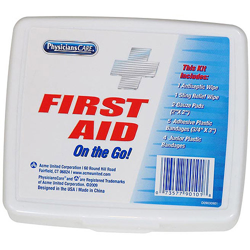Physicians Care 13pc Travel Size First Aid Kit