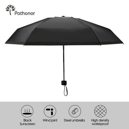 Travel Umbrella Lightweight Mini Folding Umbrella with Reinforced 6 Ribs Frame, 40