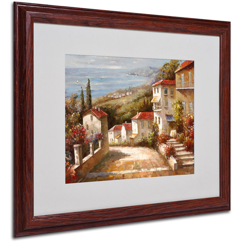 Trademark Fine Art 'Home In Tuscany' Matted Framed Artwork by Joval by TRADEMARK GAMES INC