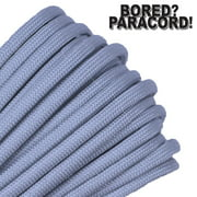 Bored Paracord Brand 550 lb Type III Paracord - Silver Grey 1000 Feet