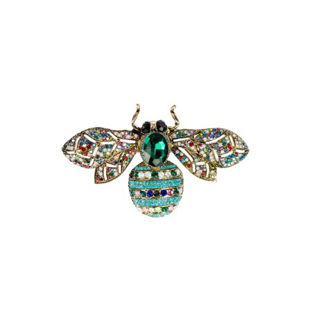 JamieRocks & Co Designer Bumble Bee Multi Colored Brooch or Pendant