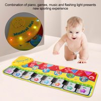 LYUMO Portable Children Musical Piano Mat Piano Keyboard Toy Early Education Blanket(Without Battery), Baby Music Piano Play Mat, Early Education Blanket