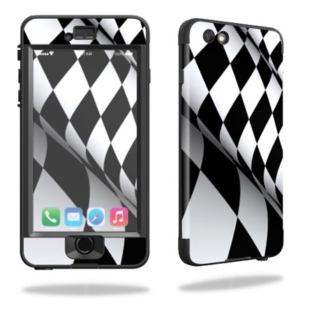 MightySkins Protective Vinyl Skin Decal for Lifeproof iPhone 6/6S Plus nuud cover wrap sticker skins Checkered Flag