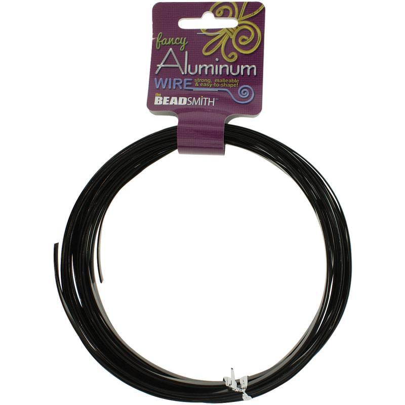 Aluminum Wire Flat Smooth, 1mm x 5mm 8m (26.25'), Black