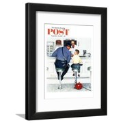 """""""Runaway"""" Saturday Evening Post Cover, September 20,1958 Framed Print Wall Art By Norman Rockwell"""