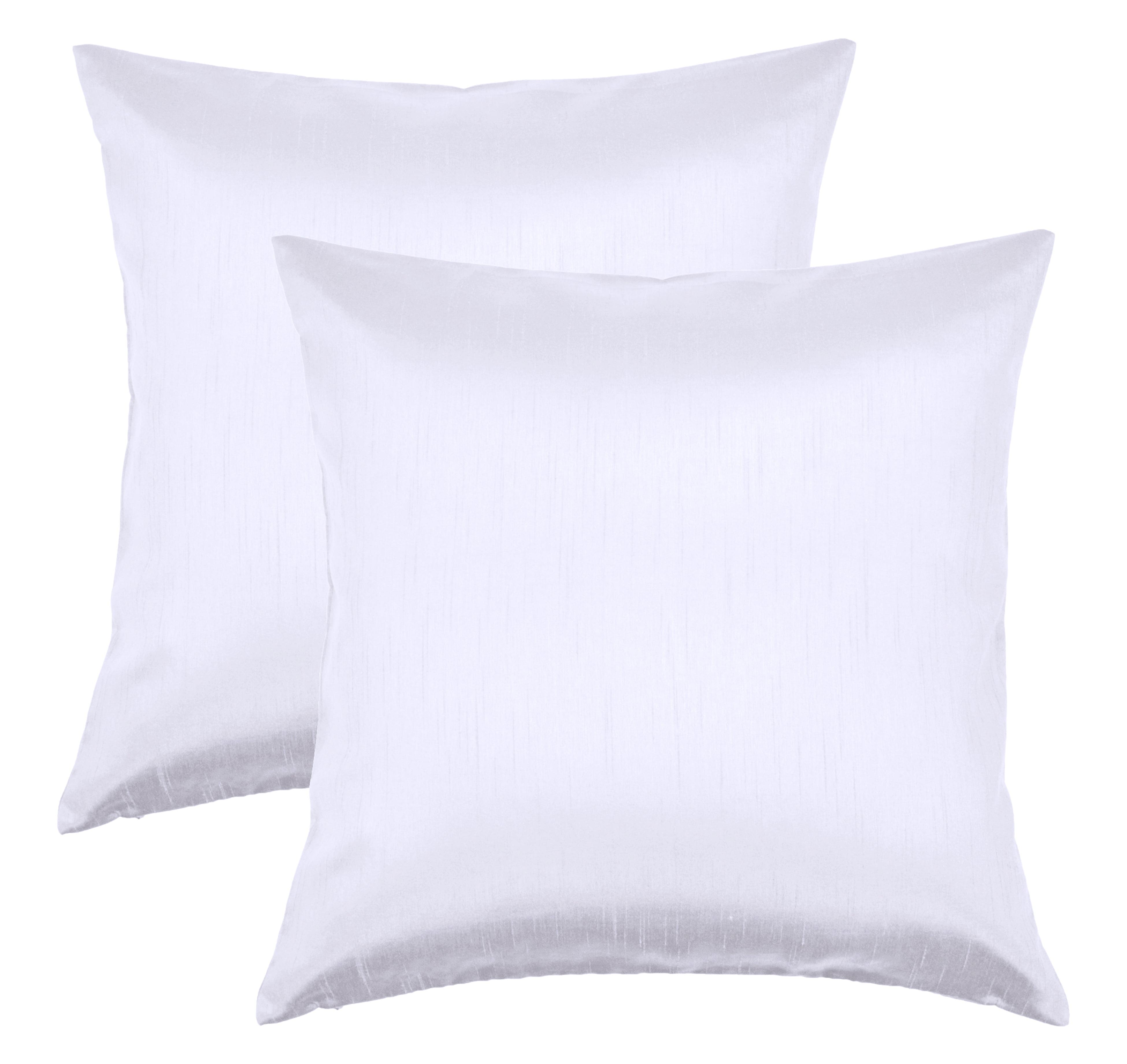 Aiking Home 24x24 Inches Faux Silk Square European Shams Zipper Closure White Set Of 2 Walmart Com Walmart Com