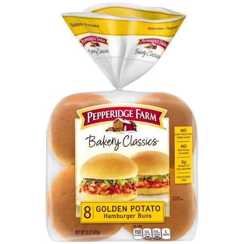 Pepperidge Farm Bakery Classics Golden Potato Hamburger Buns, 15 oz. Bag, 8-pack