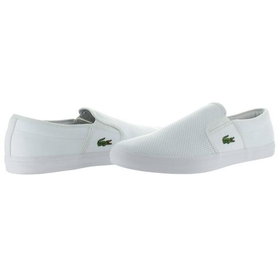 76ec41badd85ae Lacoste - Lacoste Gazon Men s Premium Leather Slip On Sneakers Shoes ...