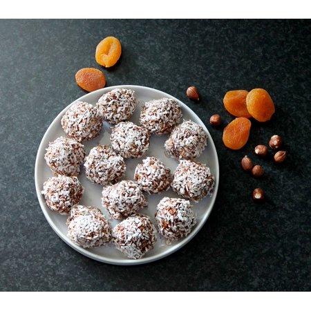 LAMINATED POSTER Oatmeal Balls Kokuskugler Snack Homemade Poster Print 24x16 Adhesive Decal