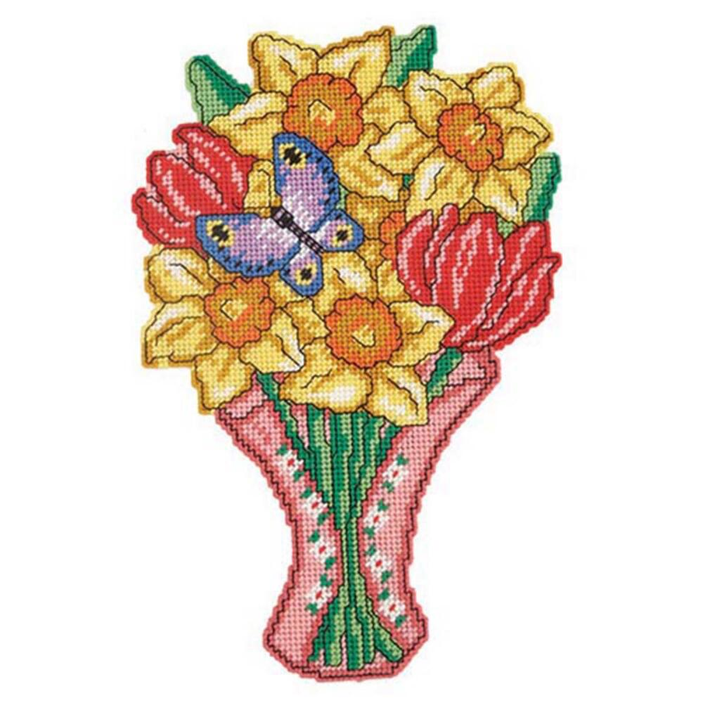 Craftways Spring Bouquet Wall Hanging Plastic Canvas Kit