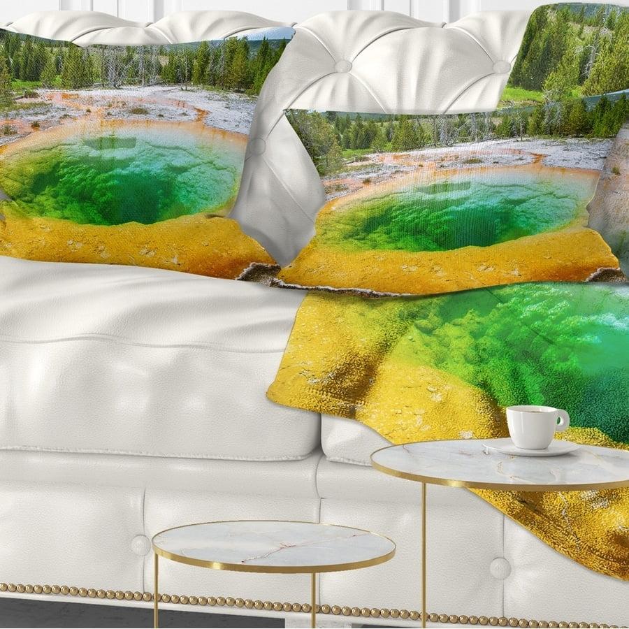 Design Art Designart Bright Morning Glory Pool Landscape Photo Throw Pillow Walmart Com