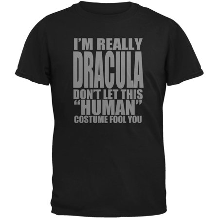 Halloween Human Dracula Costume Black Youth T-Shirt - Youth Halloween Games Church