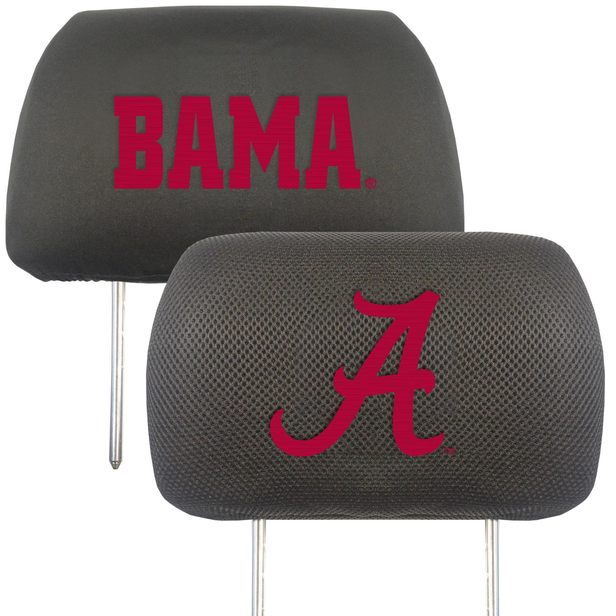 NCAA University of Alabama Crimson Tide Head Rest Cover Automotive Accessory