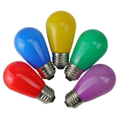 Northlight 25 ct. Opaque LED S14 Christmas Replacement Bulbs - Purple Light Bulbs