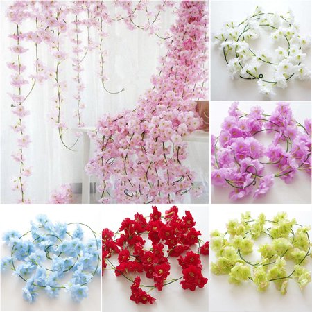 6Ft/1 piece Artificial Flowers Silk Wisteria Garland Artificial Wisteria Vine Rattan Silk Hanging Flower For Home Garden Outdoor Ceremony Wedding Arch Floral - Hanging Arch