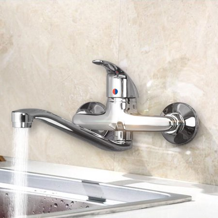 Wall Mounted Single Handle Water Taps Bathroom Faucet Basin Bath Mixer Sink Tap