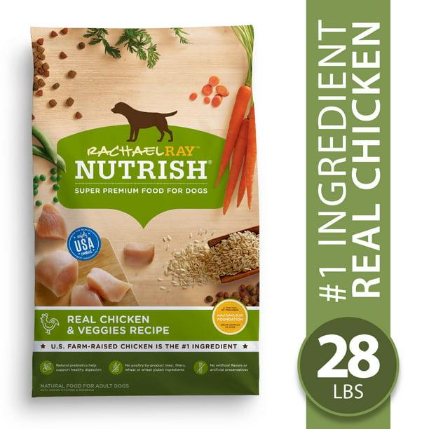 Rachael Ray Nutrish Natural Premium Dry Dog Food, Real Chicken & Veggies Recipe, 28 Lbs