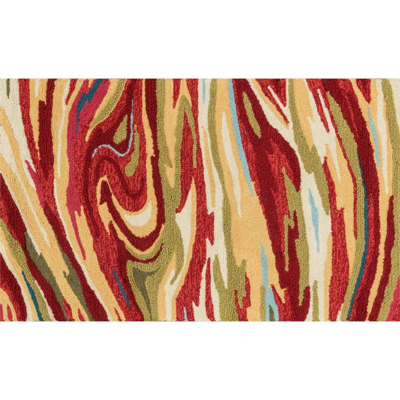 Loloi Olivia 2/' x 5/' Hand Hooked Rug in Red