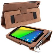 Snugg Distressed Brown Leather Nexus 7 2 Case Cover & Flip Stand