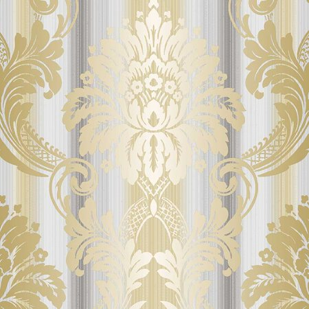 String Damask Wallpaper