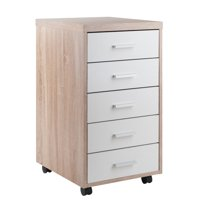 Winsome Wood Kenner 5-Drawer Storage Cabinet, Two-Tone Finish