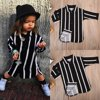 Newborn Baby Girls Striped T-shirt Tops Shirt Dresses Casual Clothes Outits Set