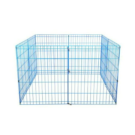 30 Tall Dog Blue Playpen Crate Fence Pet Kennel Play Pen Exercise Cage -8