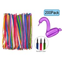 200 PCS Latex Twisting Balloons--260Q Magic Balloons Assorted Color Long Balloons for Animal Shape Party, Birthdays, Clowns, Weddings Decorations (with 1PCS Pump)