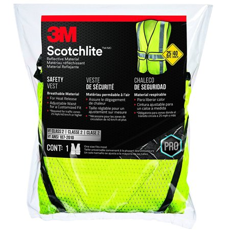 94617-80030 Yellow Reflective Class 2 Construction Safety Vest - Construction Vests