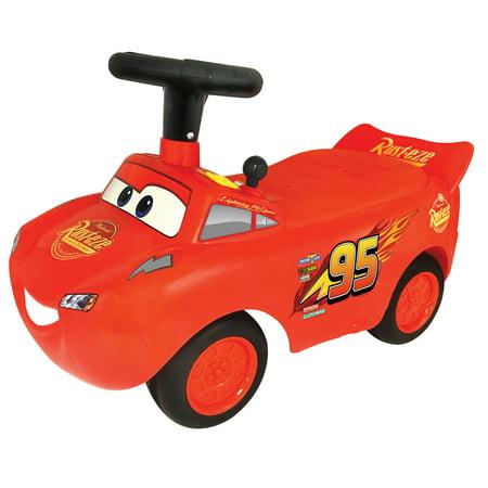 Kiddieland Disney PIXAR Cars3 Lightning McQueen Light & Sound Racer Activity Ride-On](Lightening Mcqueen Ride On Car)