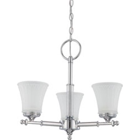 Replacement for 60/4266 TELLER 3 LIGHT CHANDELIER WITH FROSTED ETCHED GLASS POLISHED CHROME CONTEMPORARY replacement light bulb -