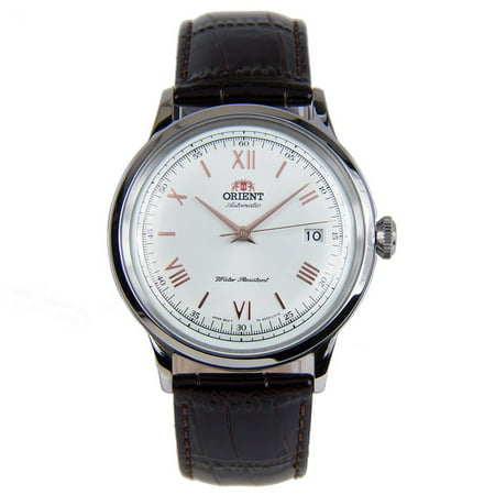 - AC00008W Men's Bambino II White Dial Brown Leather Strap Automatic Watch